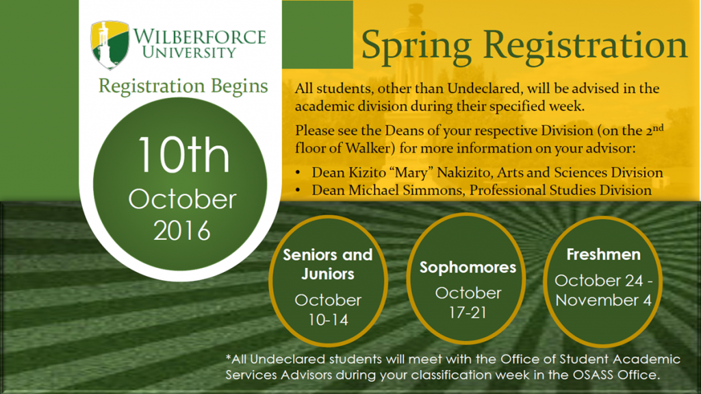 Spring Registration - Begins October 10th