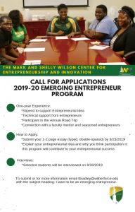 The Mark and Shelly Wilson Center for Entrepreneurship and Innovation