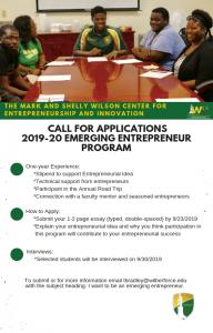 The Mark and Shelly Wilson Center for Entrepreneurship and Innovation