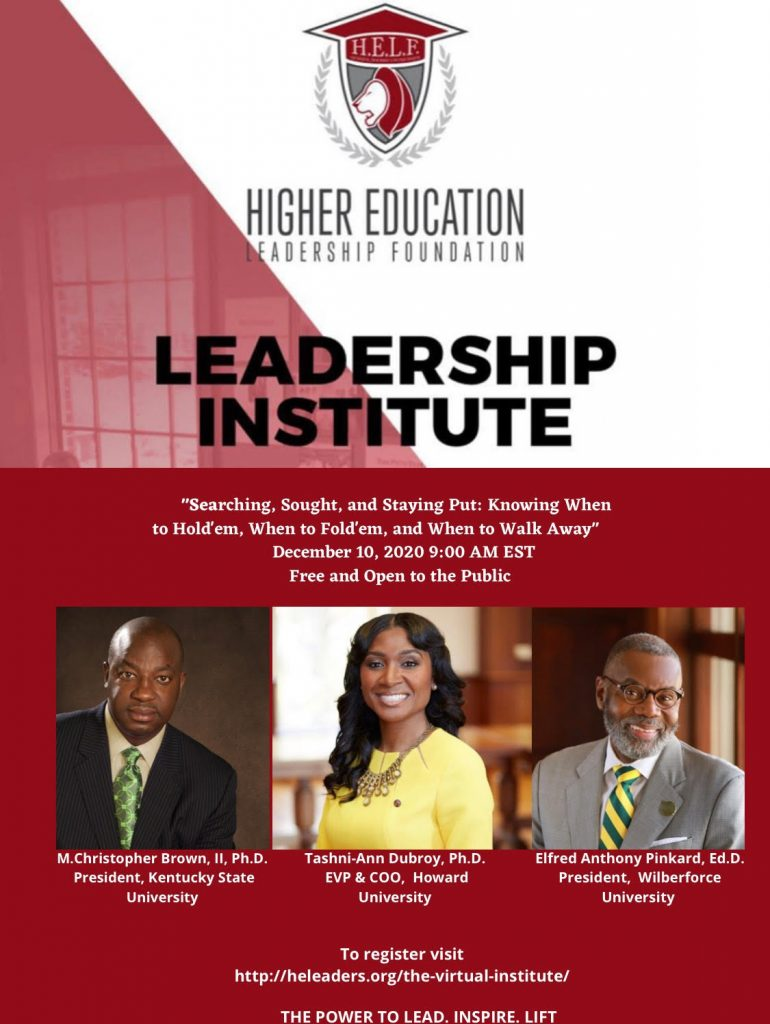 Dr. Pinkard and the Virtual Leadership Institute