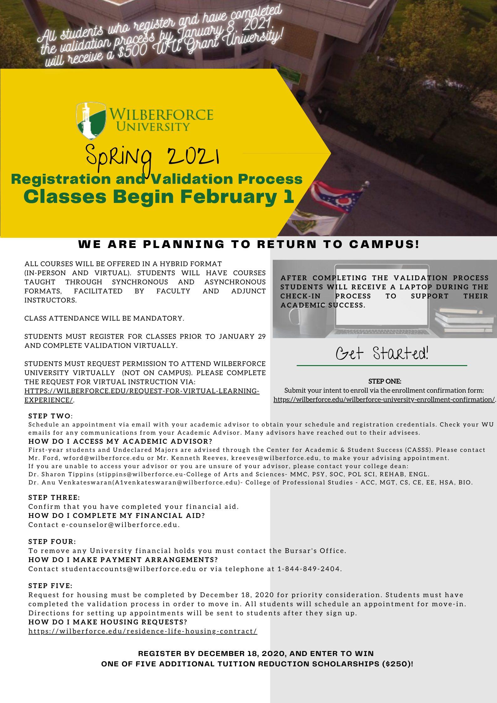 Registration Information 2021