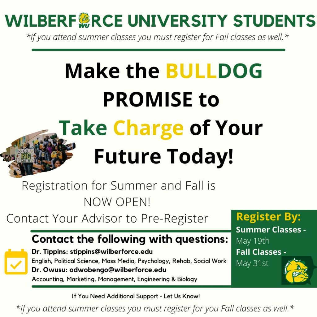 Chat About Your Future with Wilberforce University Faculty